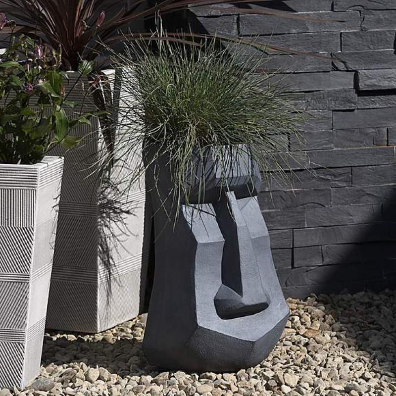 Fibrous mud carving planter