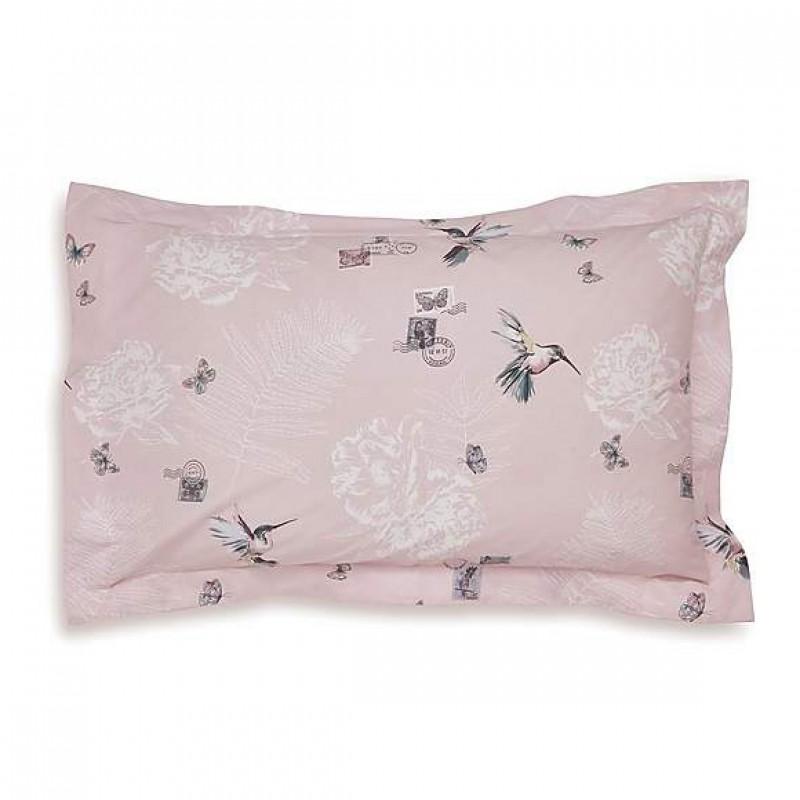 Pink Oxford pillowcase