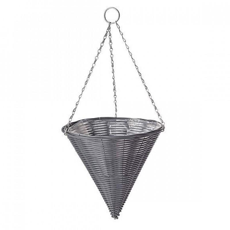 Grey conical basket