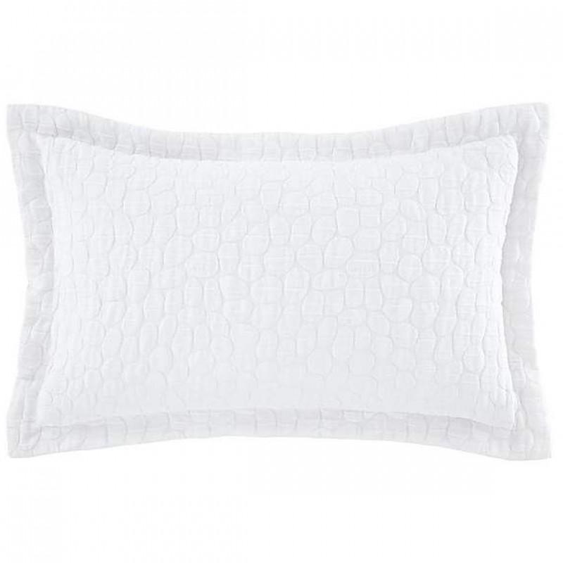 Pebble jacquard Oxford Pillowcase - white