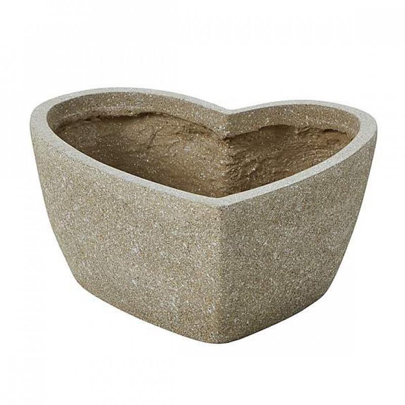 Large fiber clay sandstone heart basin