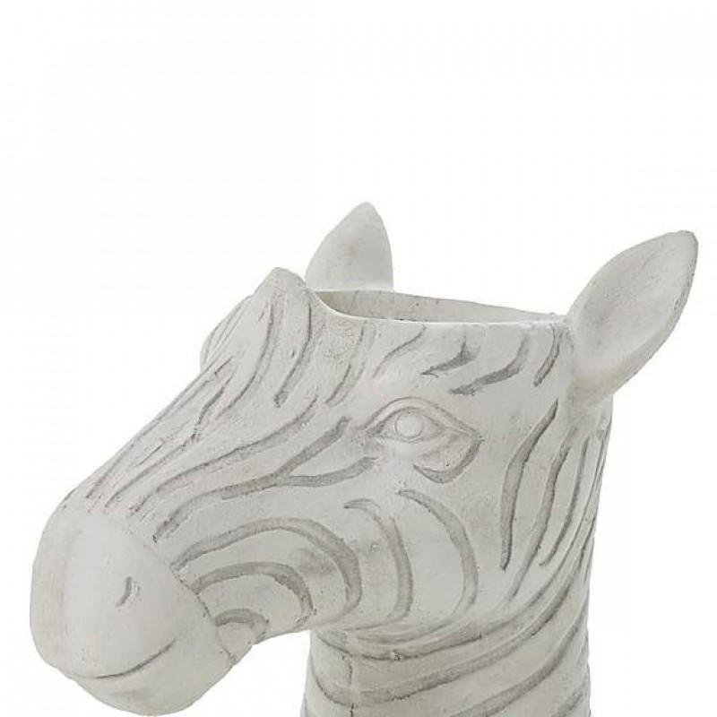 Fiber clay zebra head planters